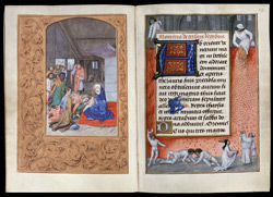 Hastings Hours, Adoration of Kings and Largesse